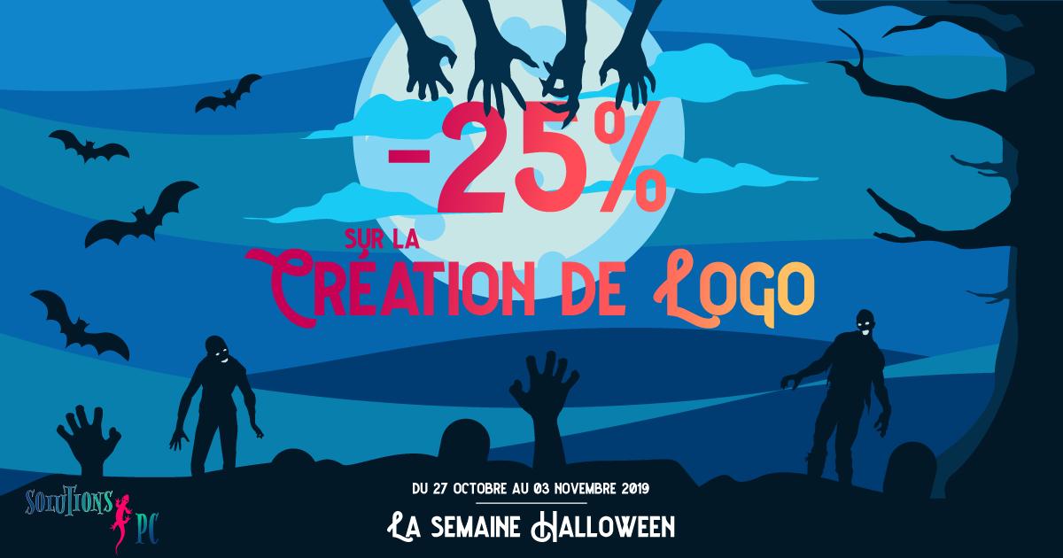 La semaine Halloween -25% sur la création de logo
