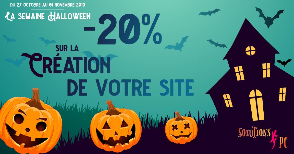 La semaine Halloween -20% sur la création de site