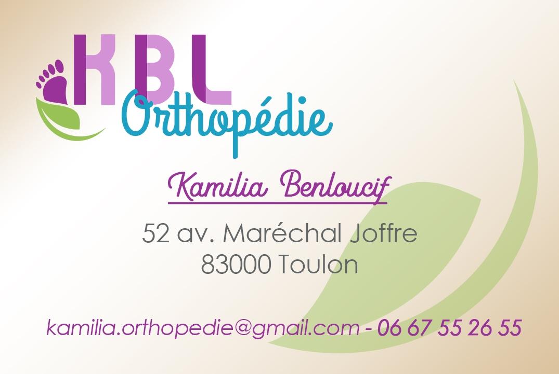 Carte De Visite Pour KBL Orthopdie Toulon